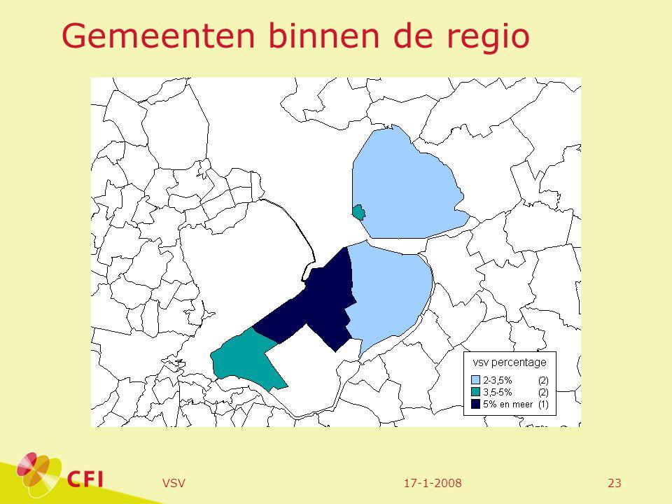 17-1-2008VSV23 Gemeenten binnen de regio