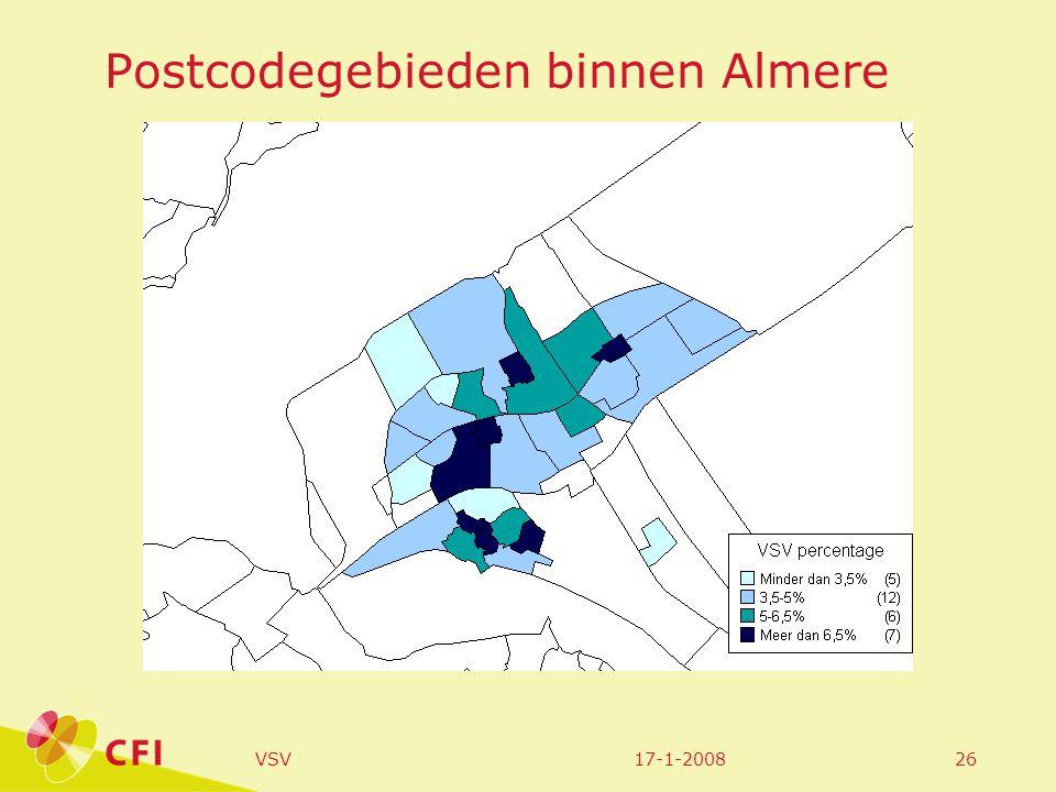 17-1-2008VSV26 Postcodegebieden binnen Almere