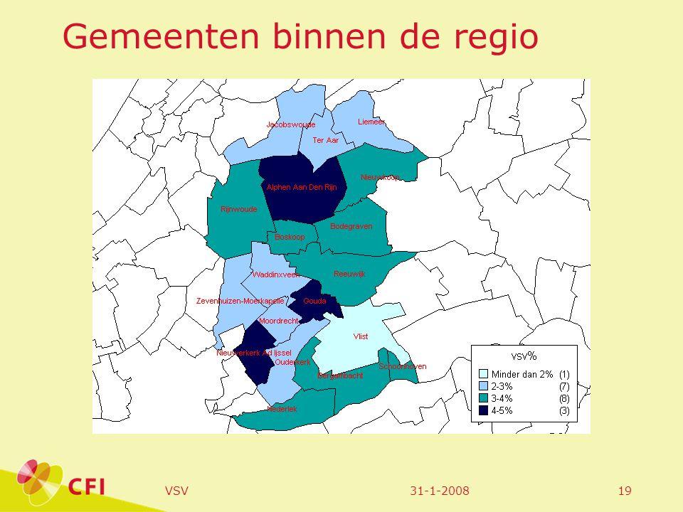 31-1-2008VSV19 Gemeenten binnen de regio