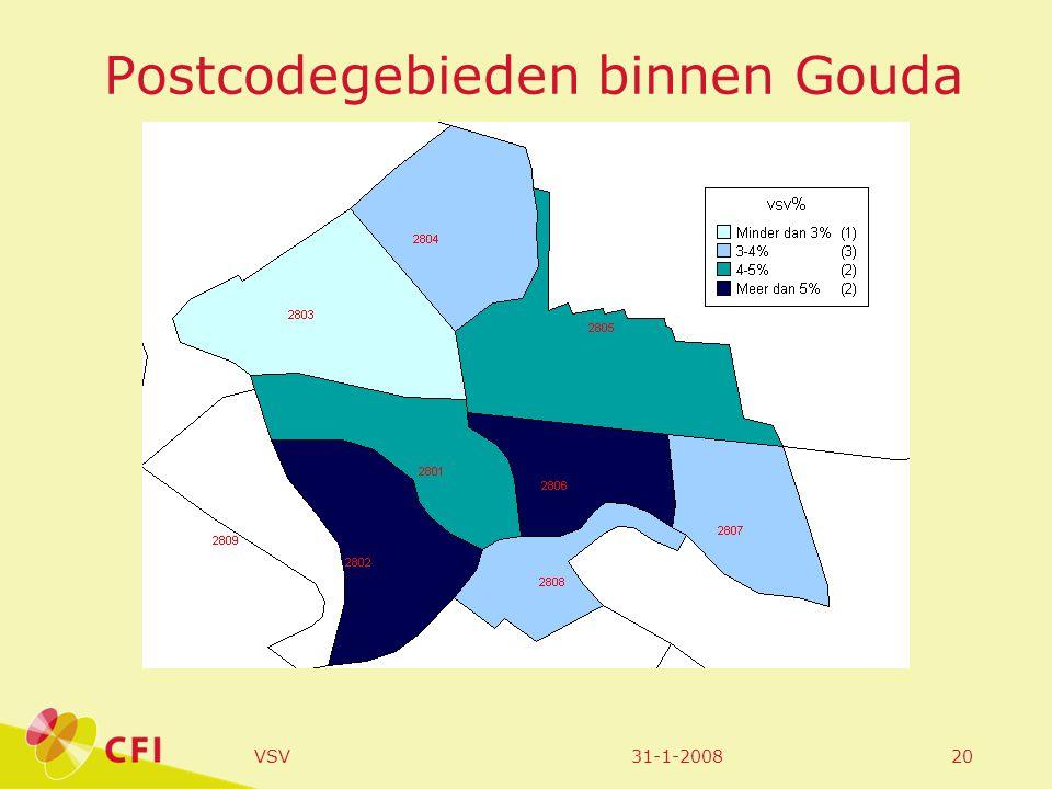 31-1-2008VSV20 Postcodegebieden binnen Gouda