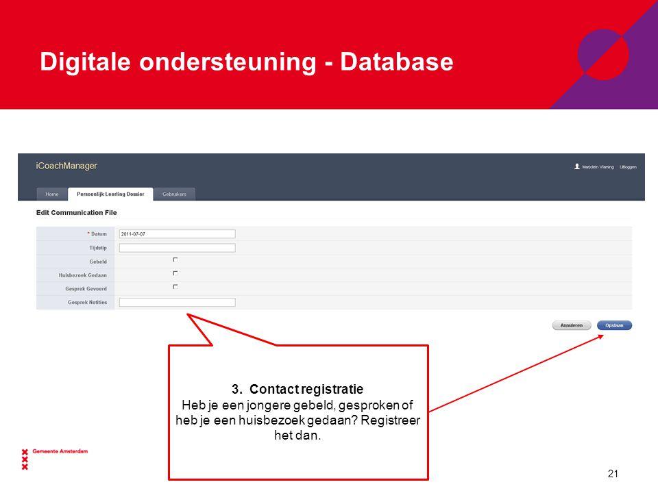 Digitale ondersteuning - Database 3.