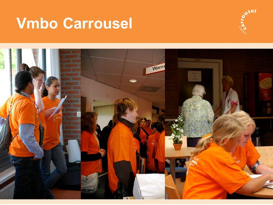 Doel vmbo Carrousel Leerlingen in het vmbo toerusten in het kunnen maken van een gerichte beroeps- en opleidingskeuze om uitval en switchgedrag in het vervolgonderwijs terug te dringen