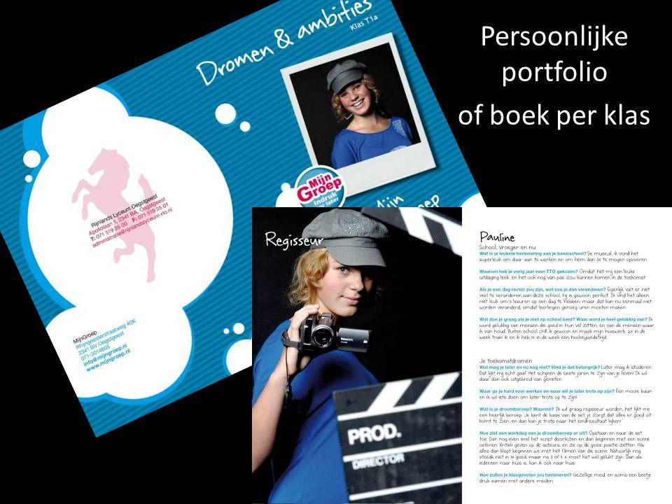 Persoonlijke portfolio of boek per klas