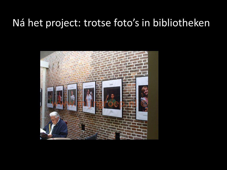 Ná het project: trotse foto's in bibliotheken