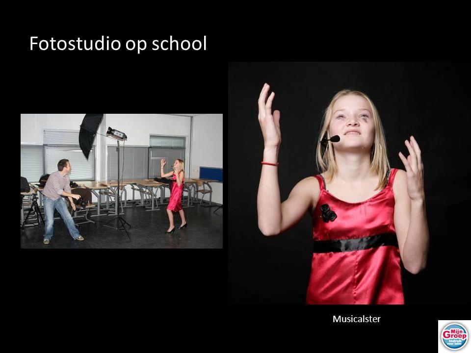 Fotostudio op school Musicalster