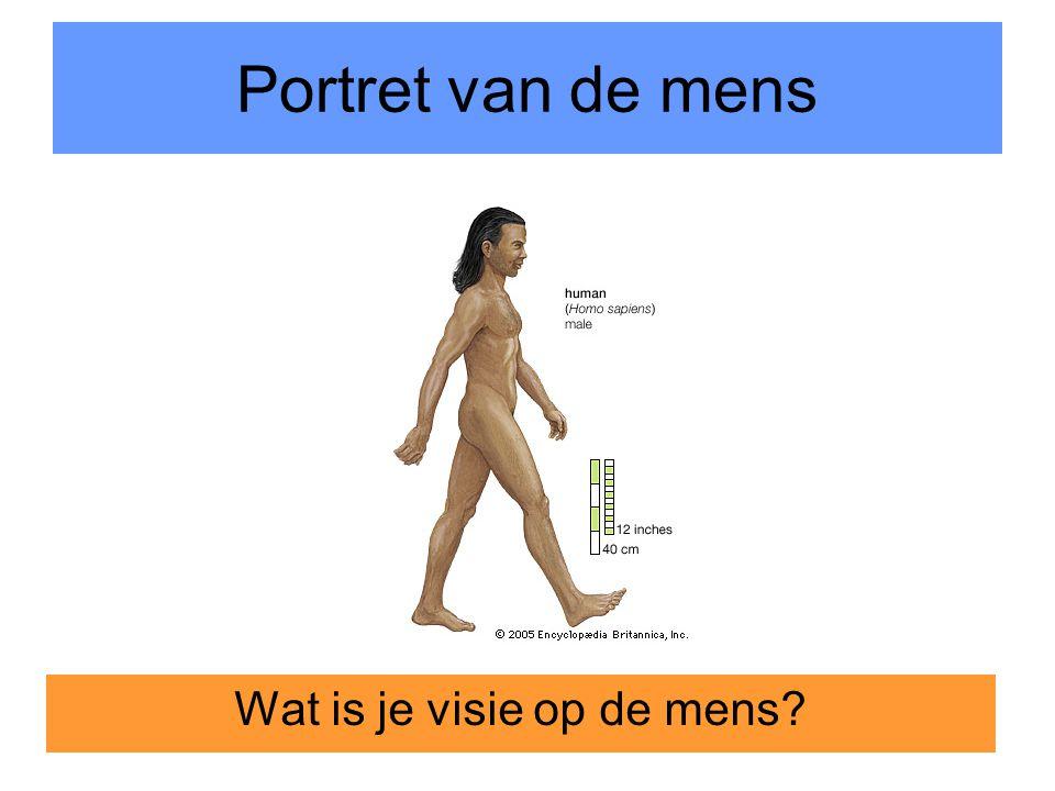 4 Portret van de mens Wat is je visie op de mens?