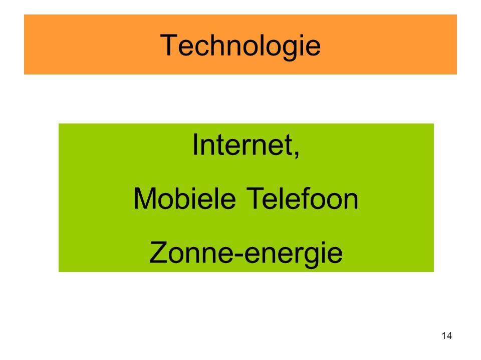 14 Technologie Internet, Mobiele Telefoon Zonne-energie