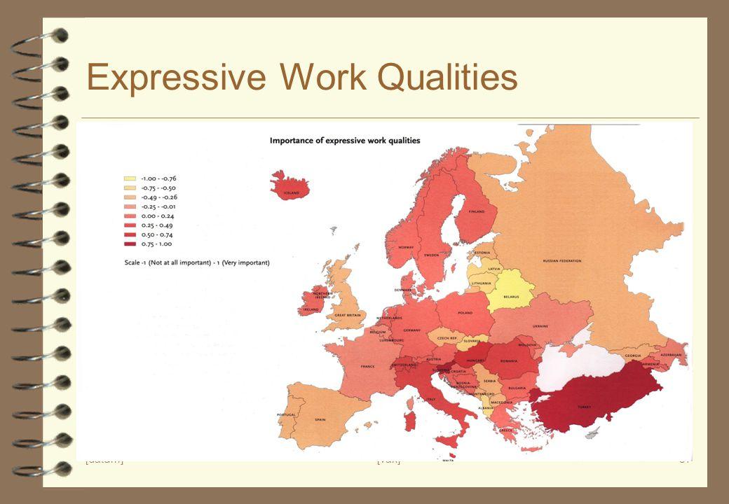 [datum][vak]37 Expressive Work Qualities