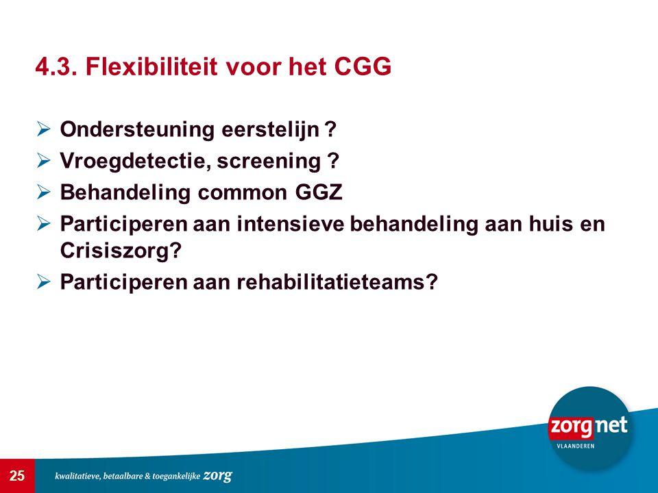 25  Ondersteuning eerstelijn ?  Vroegdetectie, screening ?  Behandeling common GGZ  Participeren aan intensieve behandeling aan huis en Crisiszorg