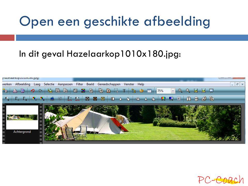 Open een geschikte afbeelding In dit geval Hazelaarkop1010x180.jpg: