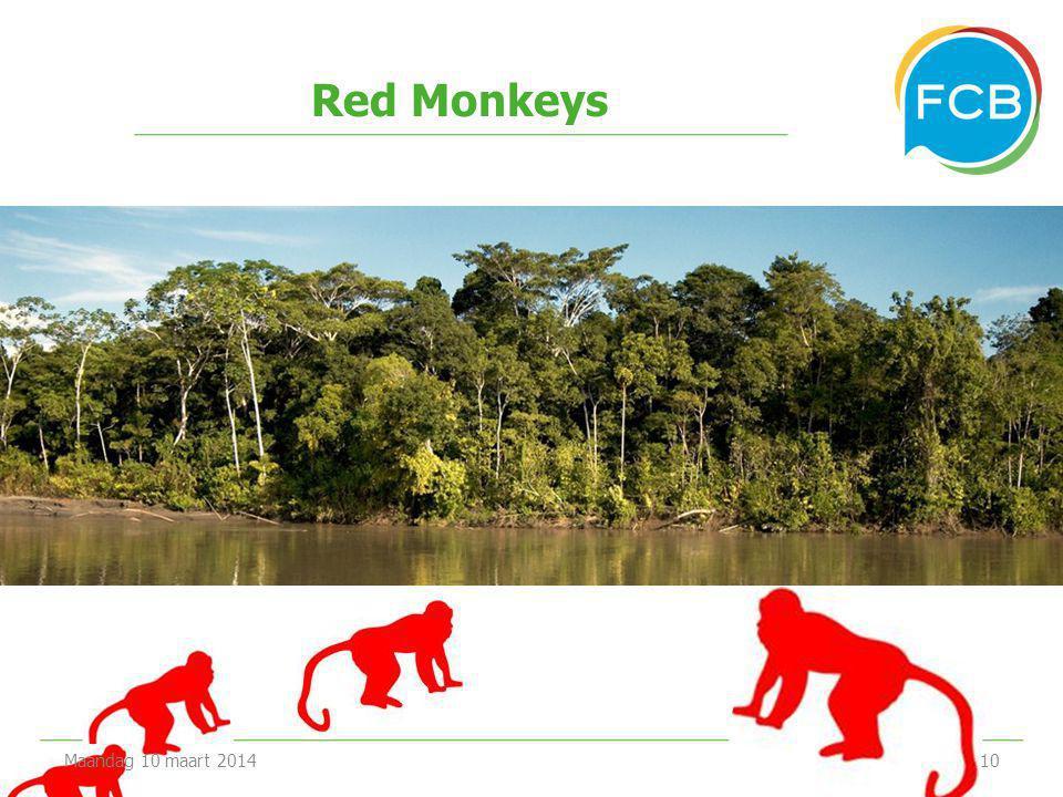 Red Monkeys Maandag 10 maart 201410