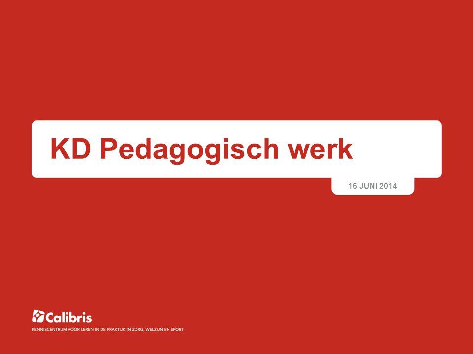 KD Pedagogisch werk 16 JUNI 2014