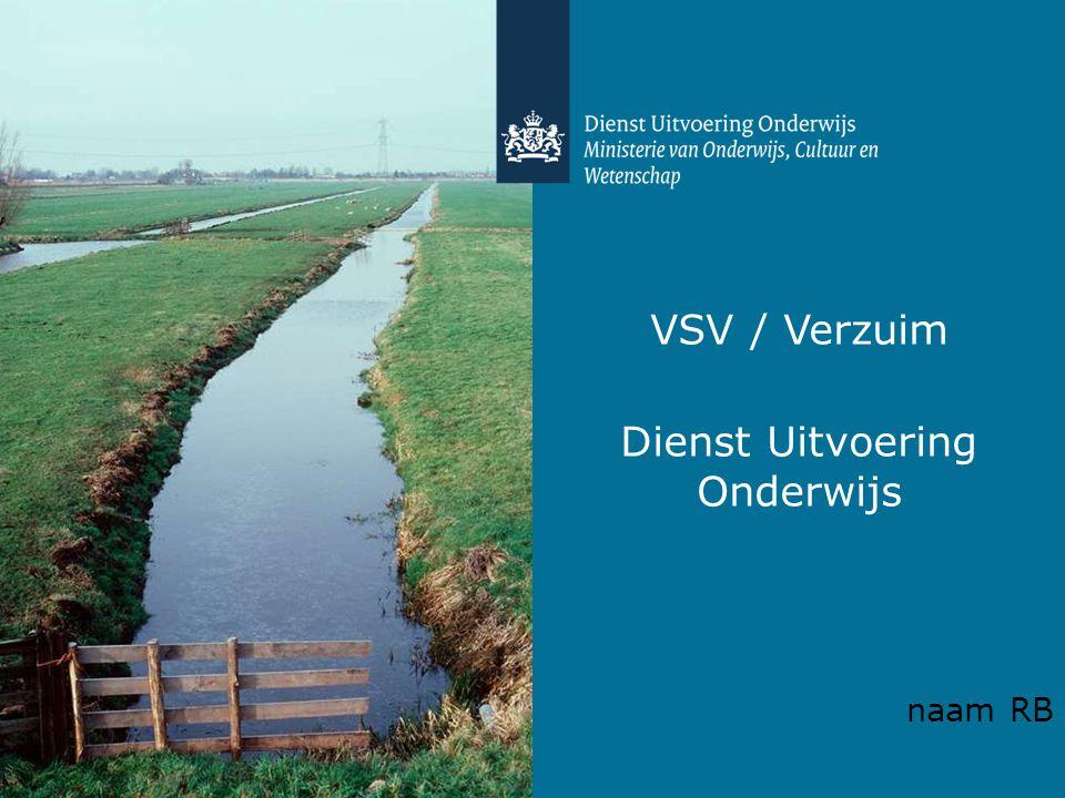 VSV / Verzuim Dienst Uitvoering Onderwijs naam RB