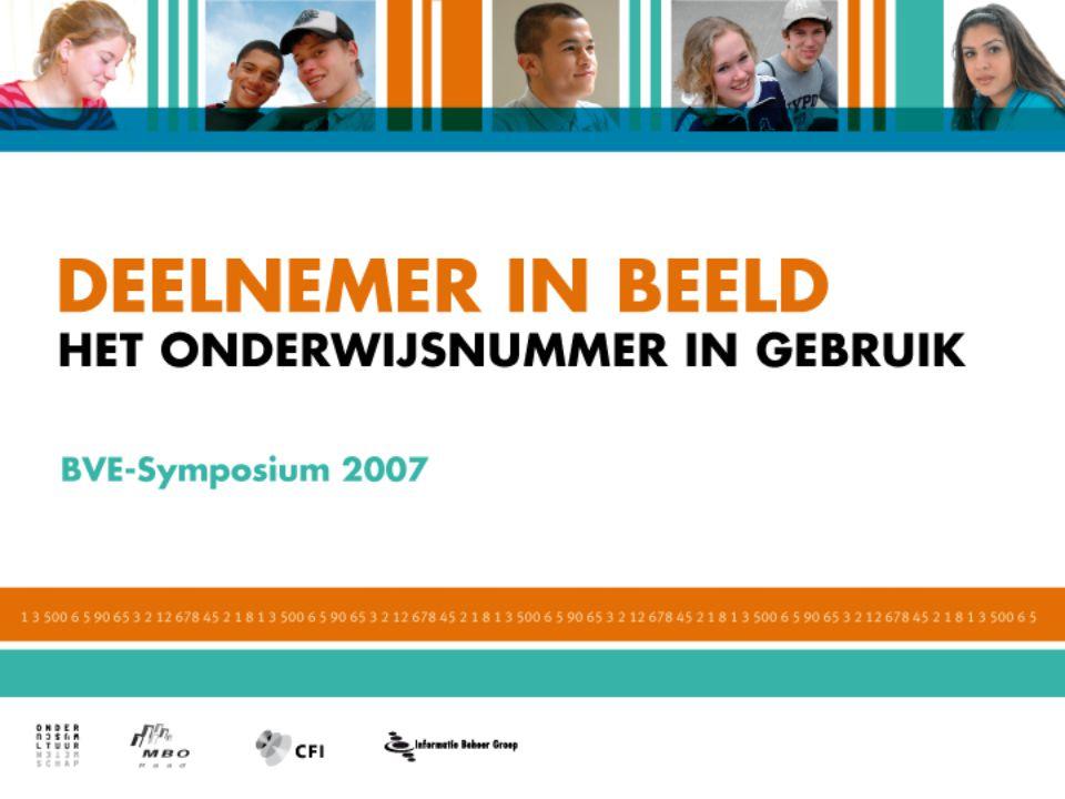 Ontwikkelingen onderwijsnummer BVE Paul Meltzer Directie BVE Ministerie OCW 19 april 2007 2