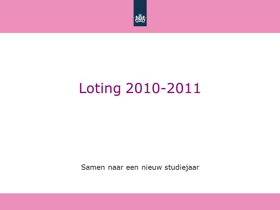 Loting 2010-2011 Samen naar een nieuw studiejaar