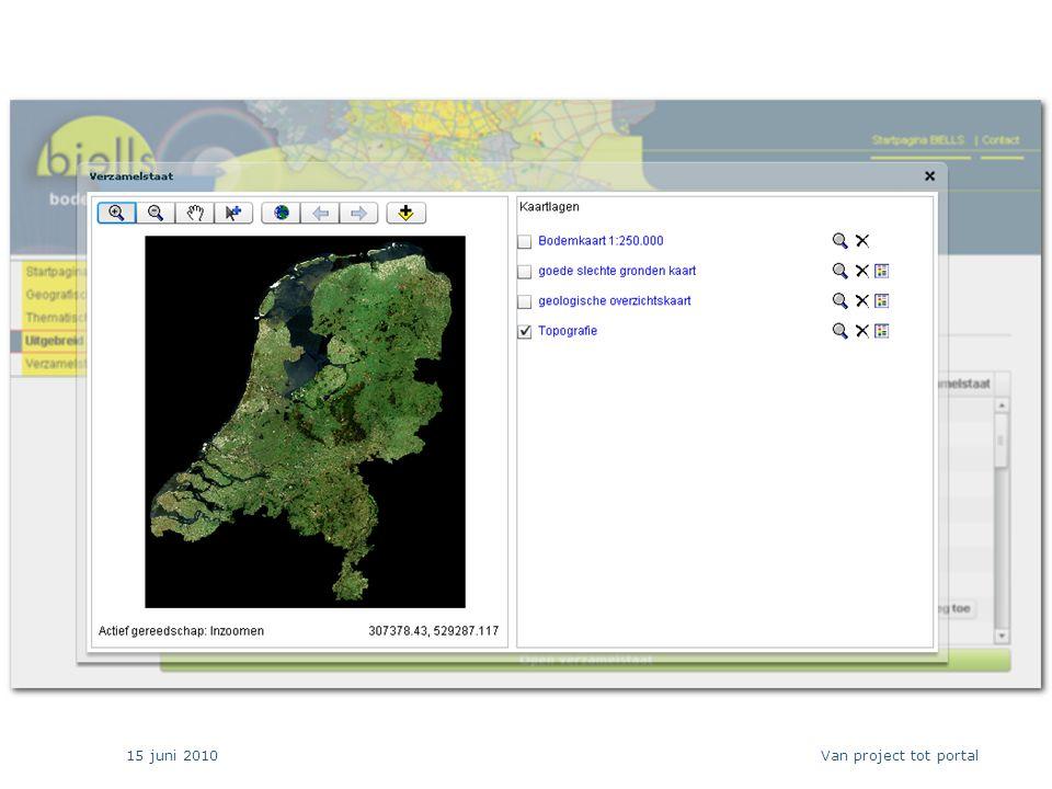 15 juni 2010 24 Van project tot portal