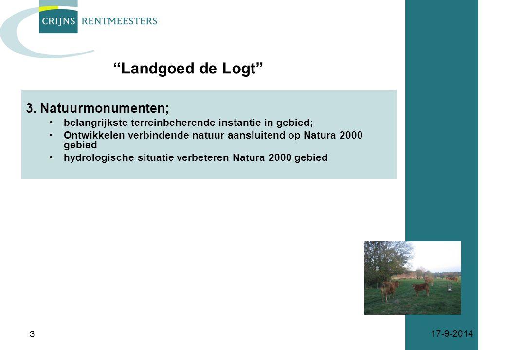 3. Natuurmonumenten; belangrijkste terreinbeherende instantie in gebied; Ontwikkelen verbindende natuur aansluitend op Natura 2000 gebied hydrologisch