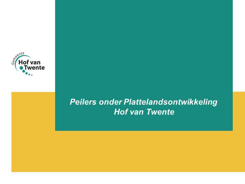 Peilers onder Plattelandsontwikkeling Hof van Twente