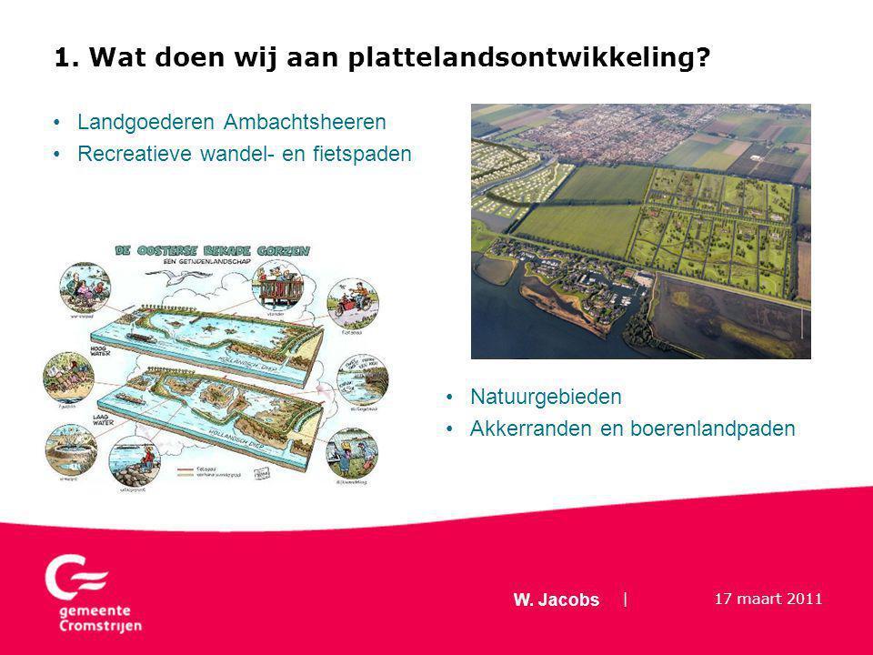 | 17 maart 2011 W. Jacobs 1. Wat doen wij aan plattelandsontwikkeling.