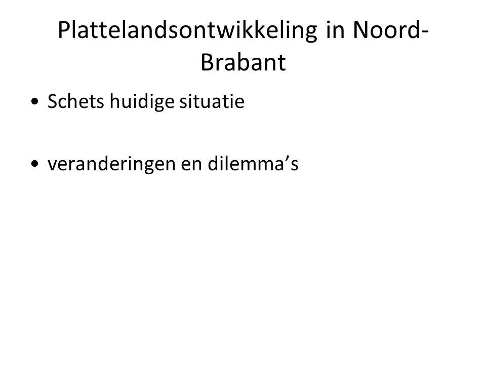 Plattelandsontwikkeling in Noord- Brabant Schets huidige situatie veranderingen en dilemma's