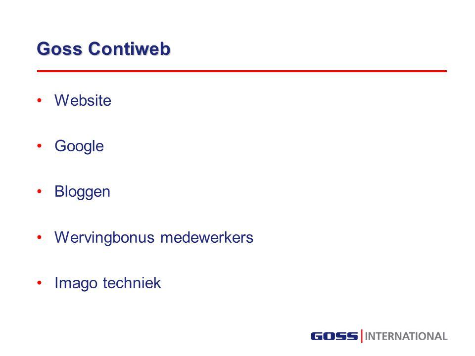 Goss Contiweb Website Google Bloggen Wervingbonus medewerkers Imago techniek