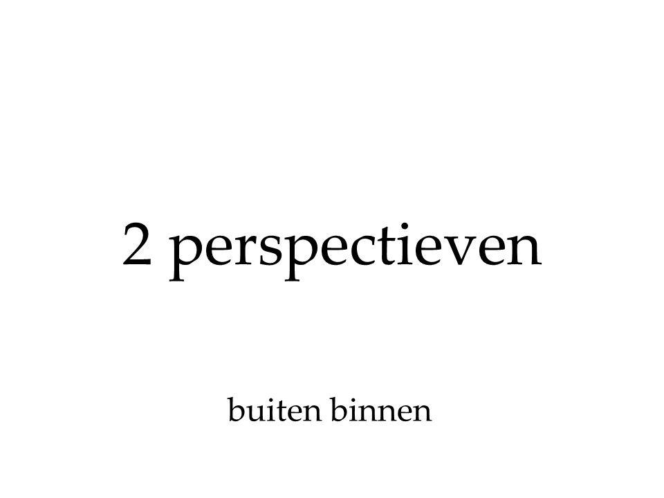 2 perspectieven buiten binnen