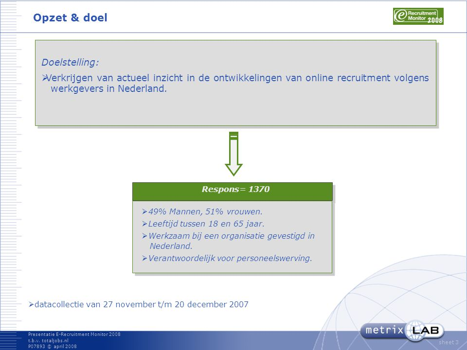 Presentatie E-Recruitment Monitor 2008 t.b.v.