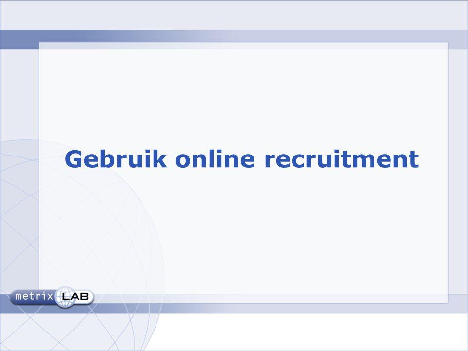 Gebruik online recruitment