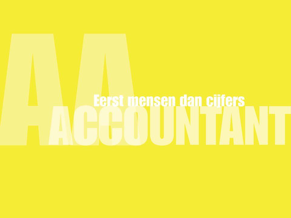 Campagne AA-worden Wat een accountant doet NOvAA & NIVRA Imago verbetering van het beroep 'accountant' in het algemeen mavo, havo, vwo (laatste jaren) Instroom opleiding hbo Accountancy + 15% Waardering van de campagne onder jongeren: 6,7 NOvAA Profileren van het beroep AA-Accountant mbo, hbo, SPD ed.