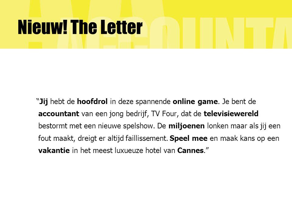 Nieuw.The Letter Jij hebt de hoofdrol in deze spannende online game.