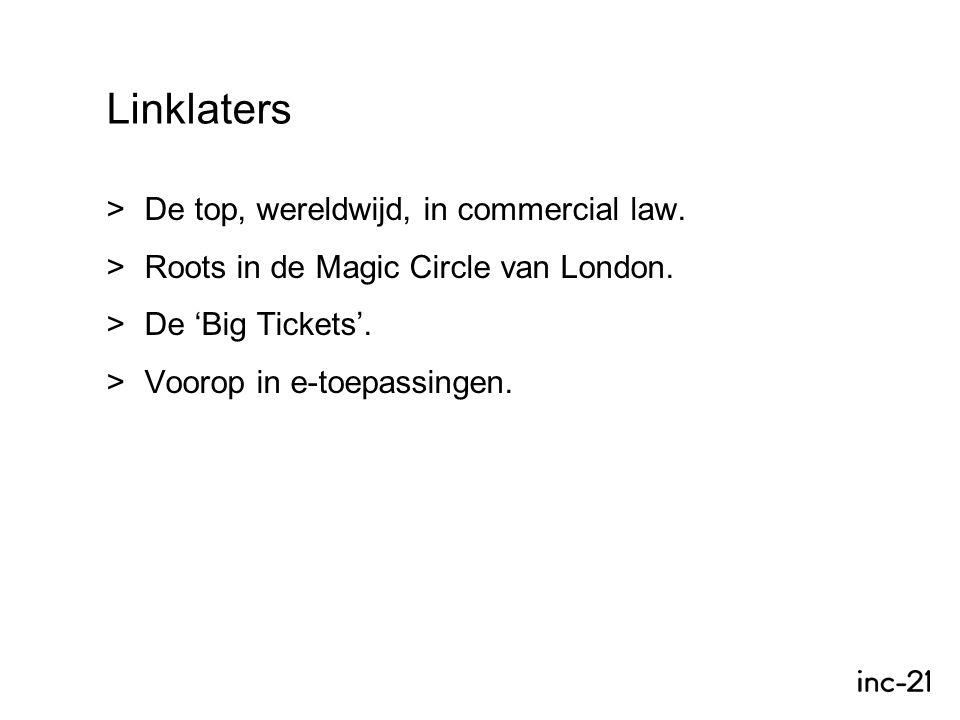  De top, wereldwijd, in commercial law.  Roots in de Magic Circle van London.