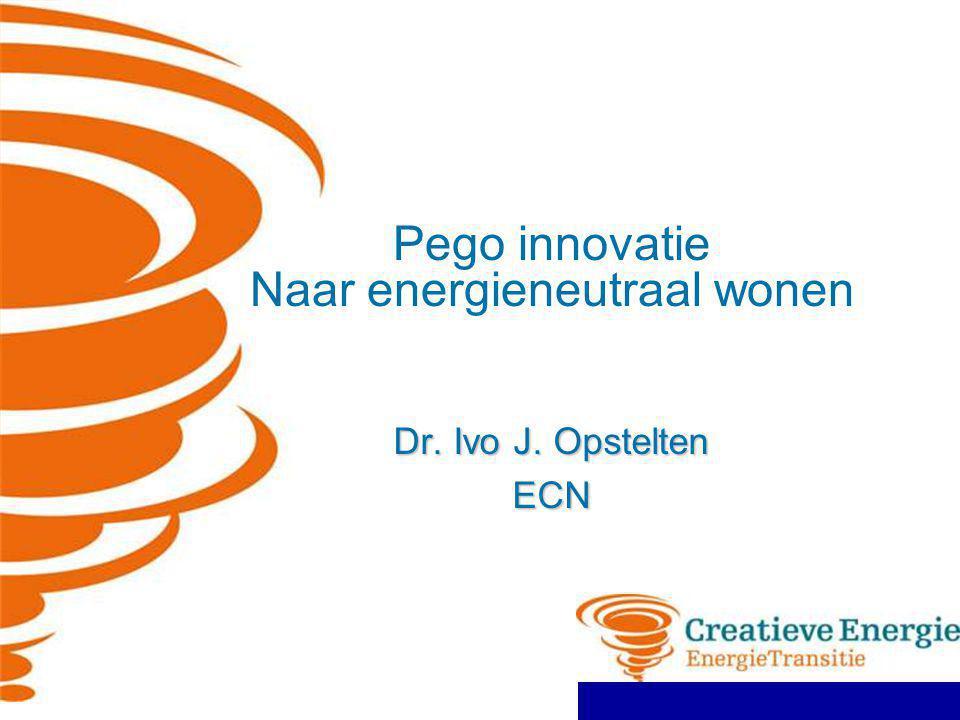 Pego innovatie Naar energieneutraal wonen Dr. Ivo J. Opstelten ECN