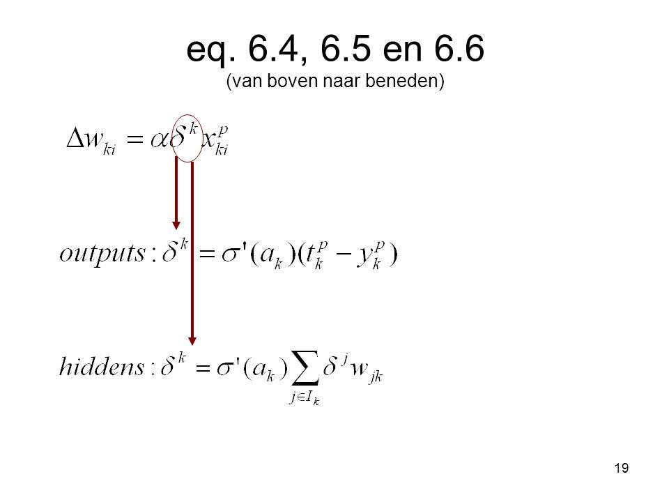 19 eq. 6.4, 6.5 en 6.6 (van boven naar beneden)