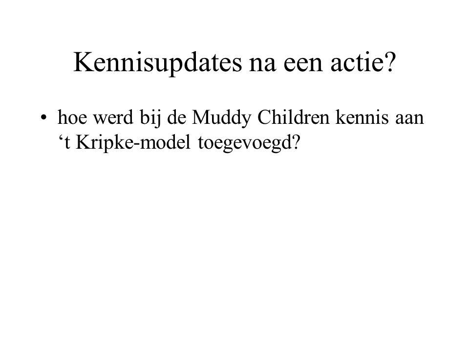 hoe werd bij de Muddy Children kennis aan 't Kripke-model toegevoegd