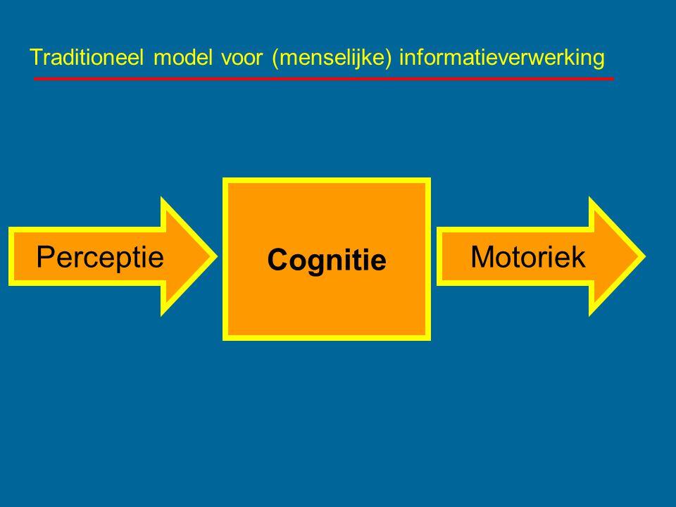 Traditioneel model voor (menselijke) informatieverwerking Cognitie PerceptieMotoriek