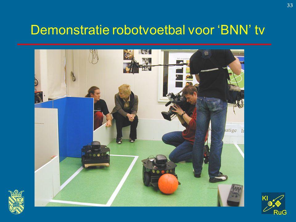 KI RuG 33 Demonstratie robotvoetbal voor 'BNN' tv