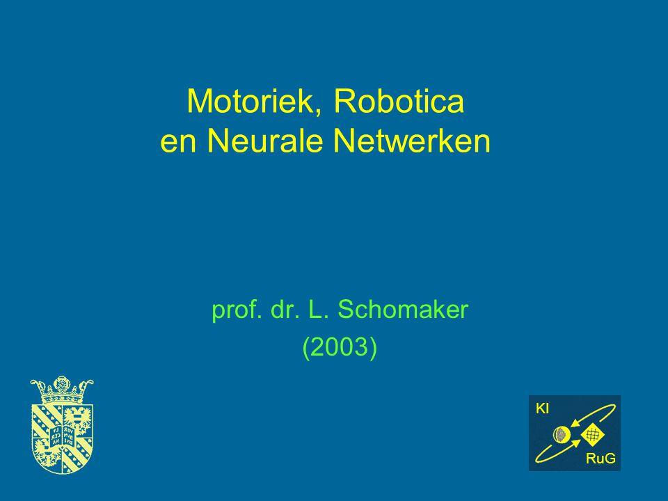 Motoriek, Robotica en Neurale Netwerken prof. dr. L. Schomaker (2003) KI RuG
