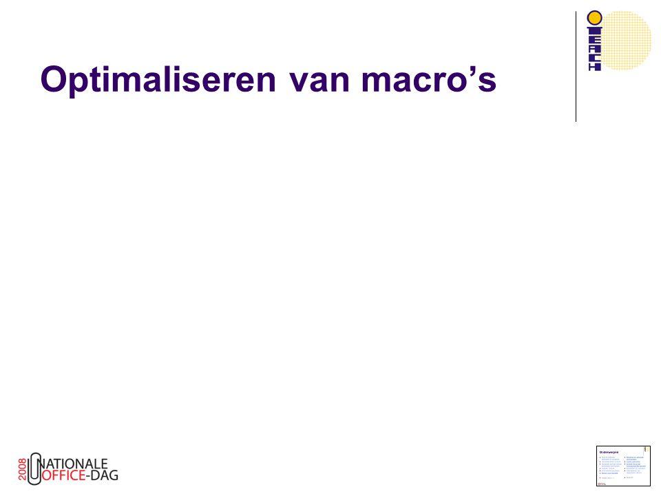 Optimaliseren van macro's