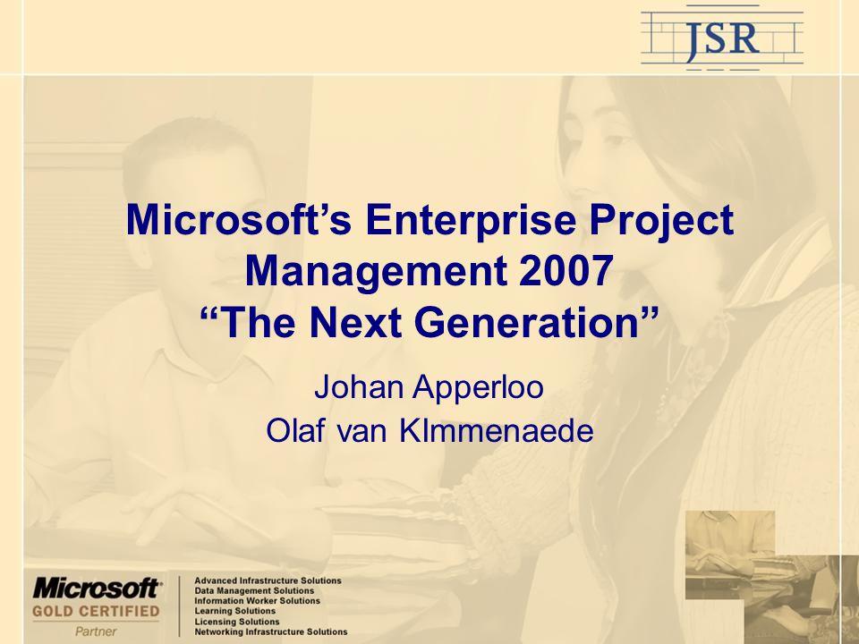 Agenda Inleiding.Project Server en Project Professional 2007: concept.