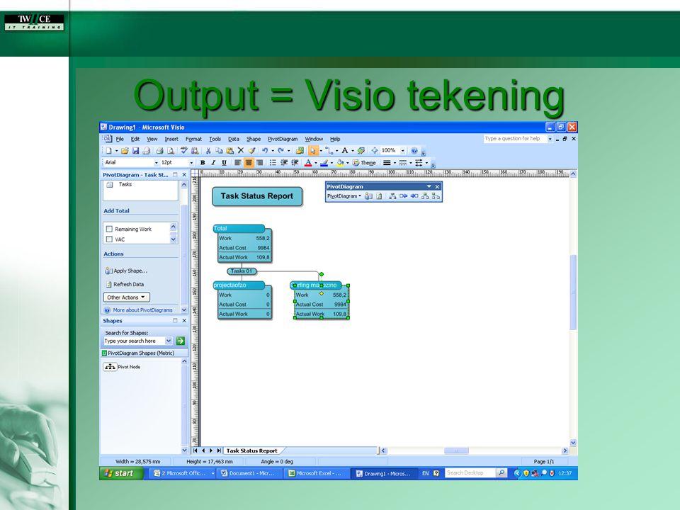Output = Visio tekening