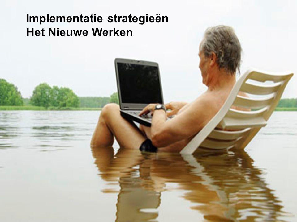 Implementatie strategieën Het Nieuwe Werken
