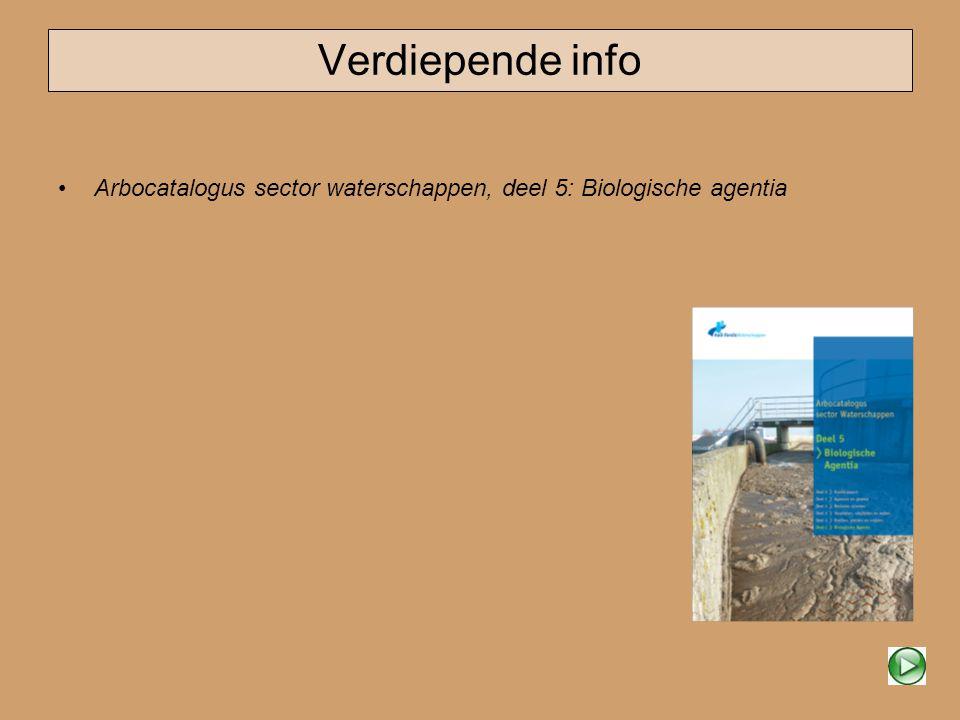 Verdiepende info Arbocatalogus sector waterschappen, deel 5: Biologische agentia
