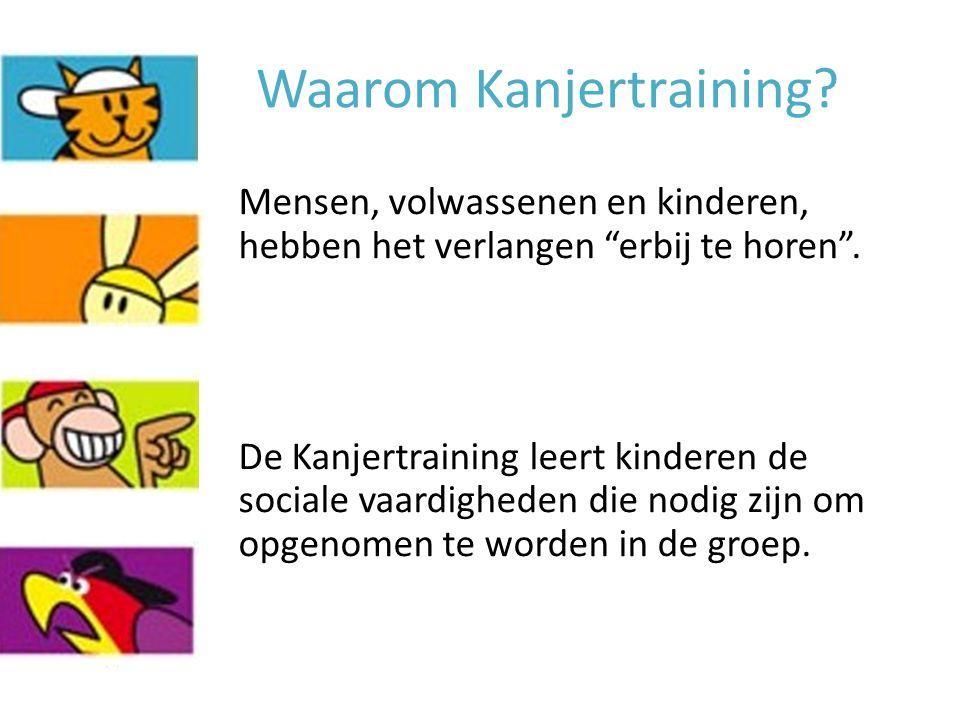"""Waarom Kanjertraining? Mensen, volwassenen en kinderen, hebben het verlangen """"erbij te horen"""". De Kanjertraining leert kinderen de sociale vaardighede"""