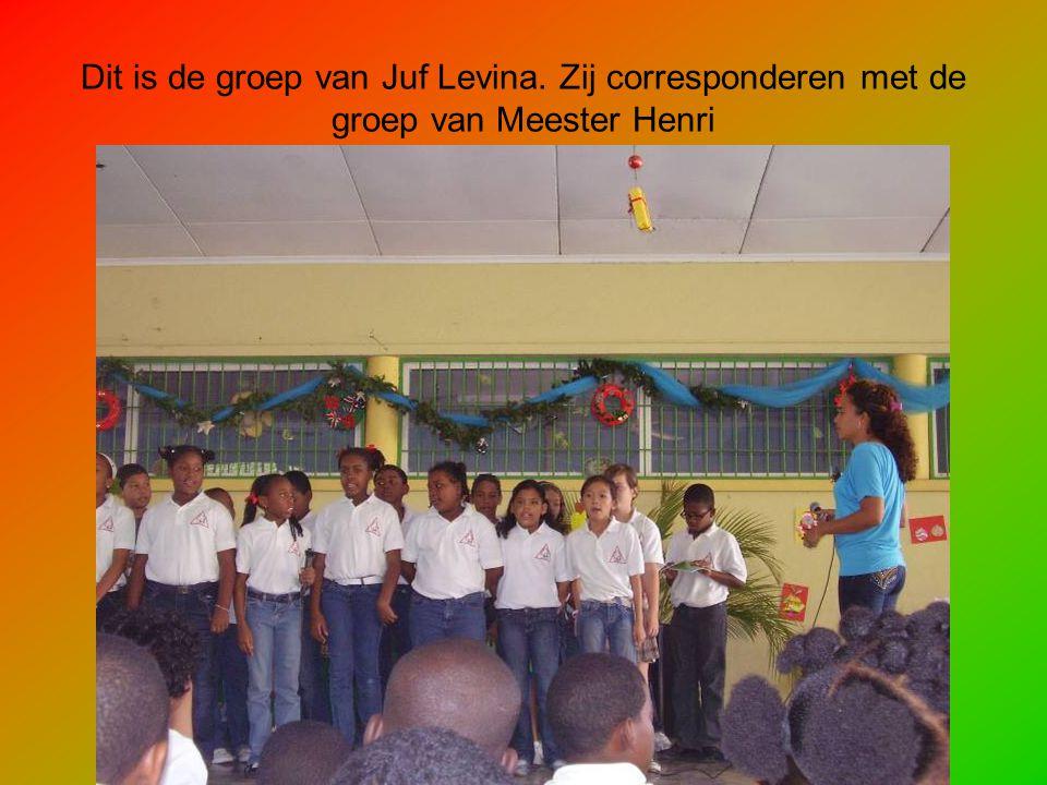 Dit is de groep van Juf Levina. Zij corresponderen met de groep van Meester Henri