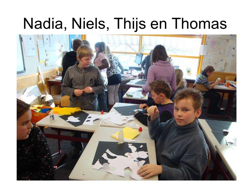 Nadia, Niels, Thijs en Thomas