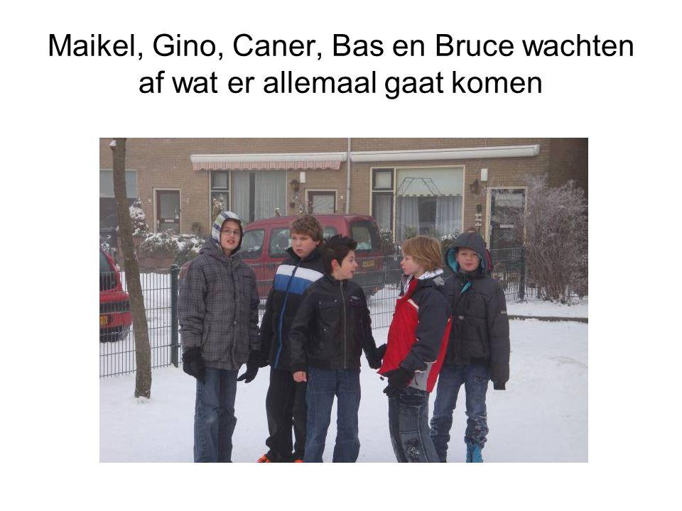 Maikel, Gino, Caner, Bas en Bruce wachten af wat er allemaal gaat komen
