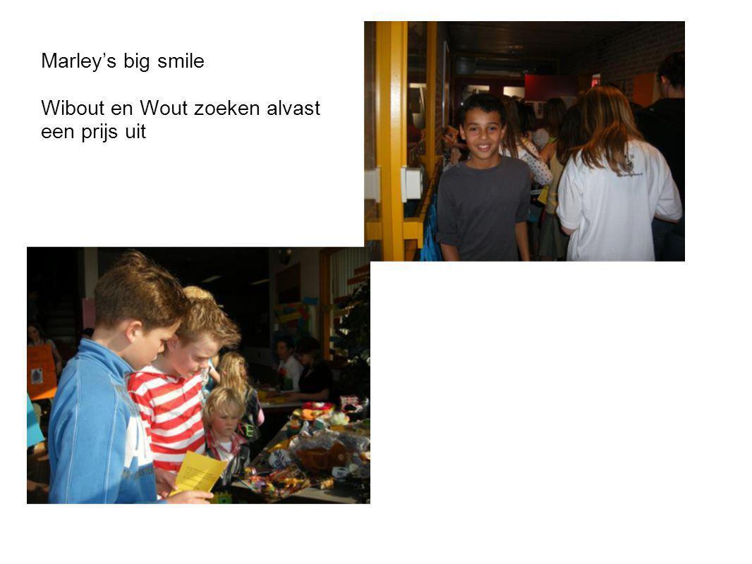 Marley's big smile Wibout en Wout zoeken alvast een prijs uit