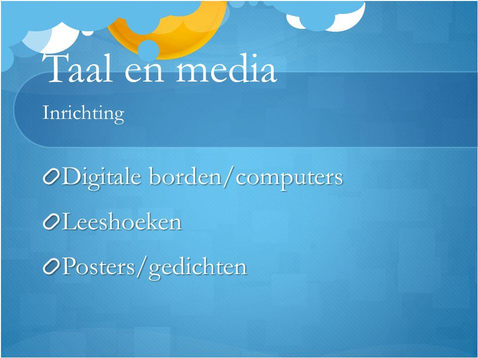 Taal en media Inrichting Digitale borden/computers LeeshoekenPosters/gedichten