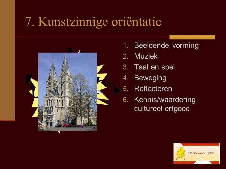 7.Kunstzinnige oriëntatie 1. Beeldende vorming 2.