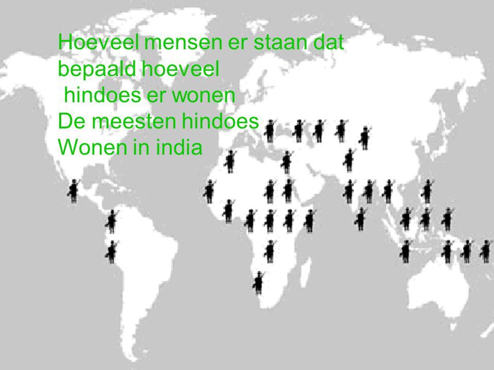 Hoeveel mensen er staan dat bepaald hoeveel hindoes er wonen De meesten hindoes Wonen in india